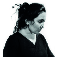 Portrait of Janhavi Sharma. Click to read interview.