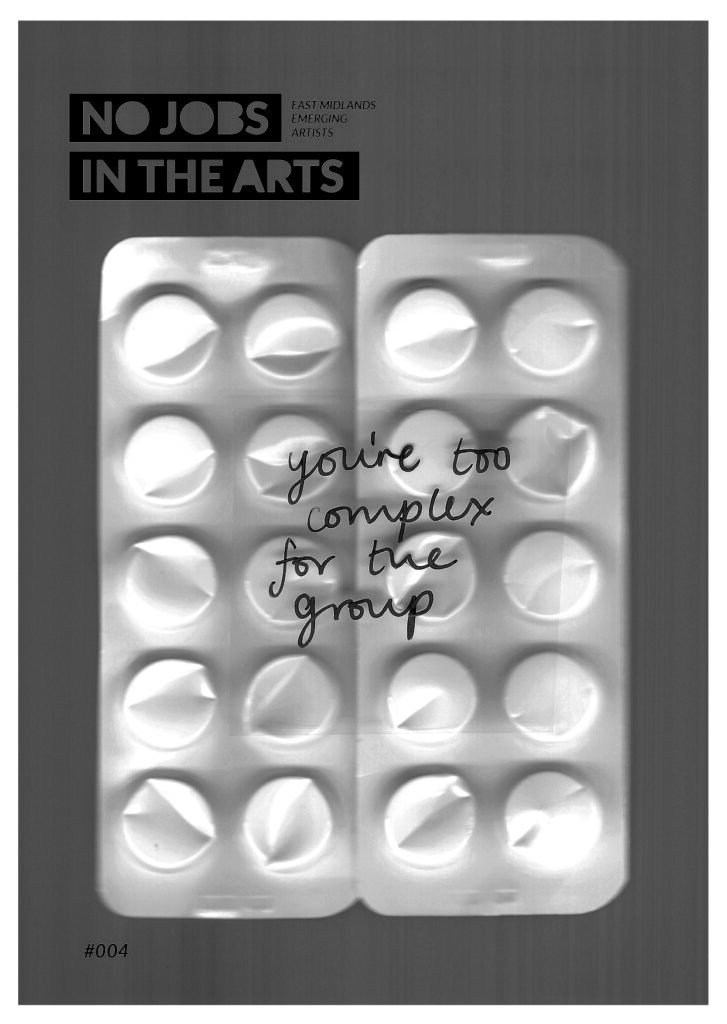 Cover image of issue 4 of No Jobs in the Arts.